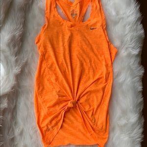 NIKE dry fit orange tank